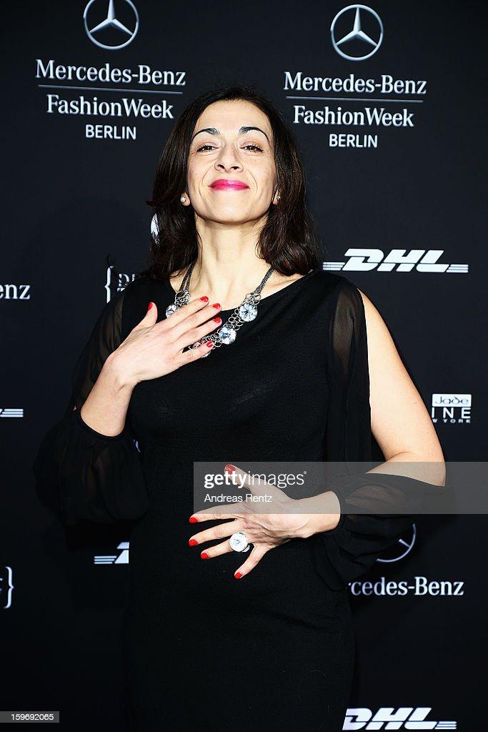 Ilknur Boyraz attends Miranda Konstantinidou Autumn/Winter 2013/14 fashion show during Mercedes-Benz Fashion Week Berlin at Brandenburg Gate on January 18, 2013 in Berlin, Germany.