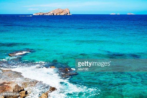 Illa de Espartar island in the Balearic Islands, Spain : Stock Photo