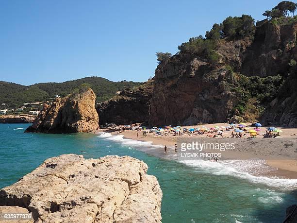 Illa Roja beach, nudist beach near Begur