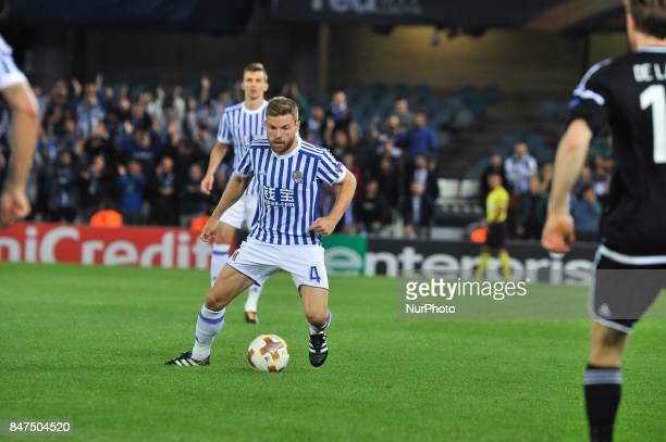 Illarramendi of Real Sociedad tries to controls the ball during the UEFA Europa League Group L football match between Real Sociedad and Rosenborg BK...