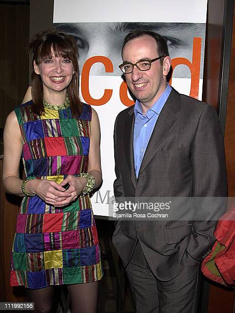 Illeana Douglas and Rick Marin during Rick Marin's Book Party at Chambers Hotel in New York City New York United States