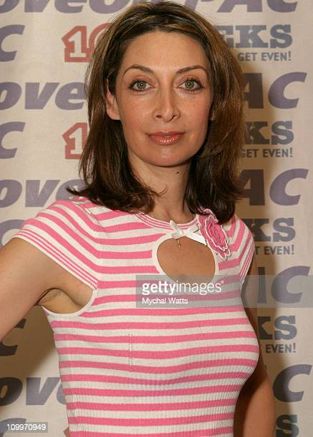 Illeana Douglas during MoveOnorg Presents Star Studded Event to Launch TV Ads to Defeat Bush at Hammerstein Ballroom in New York City New York United...