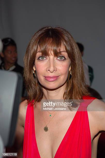 Illeana Douglas during Olympus Fashion Week Spring 2007 Marc Bouwer Backstage in New York City New York United States