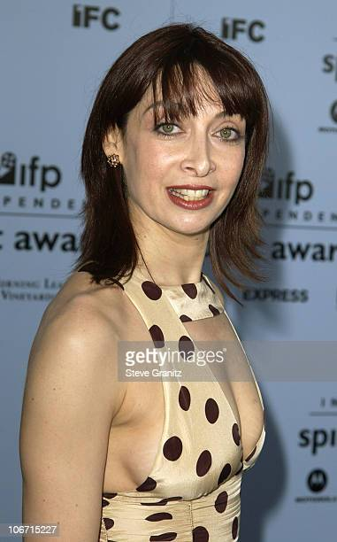 Illeana Douglas during The 18th Annual IFP Independent Spirit Awards Arrivals at Santa Monica Beach in Santa Monica California United States