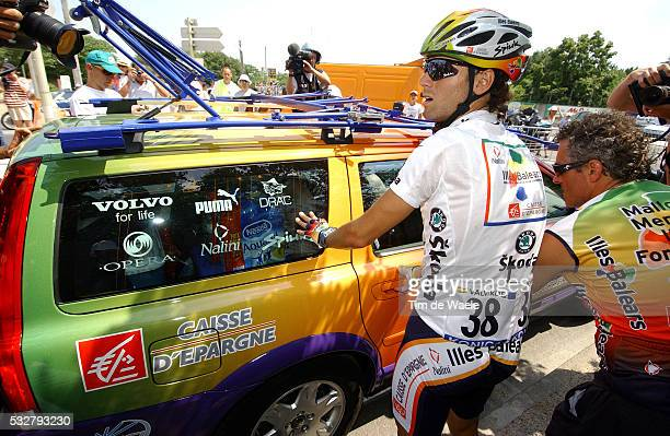 Illes Balears rider Alejandro Valverde of Spain waits for his team car during the 173km 13th stage of the 92nd Tour de France cycling race between...