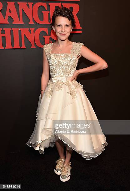 illie Brown attends the Premiere of Netflix's 'Stranger Things' at Mack Sennett Studios on July 11 2016 in Los Angeles California