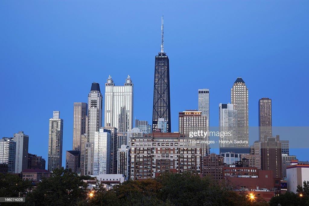 USA, Illinois, Chicago, City skyline : Stock Photo
