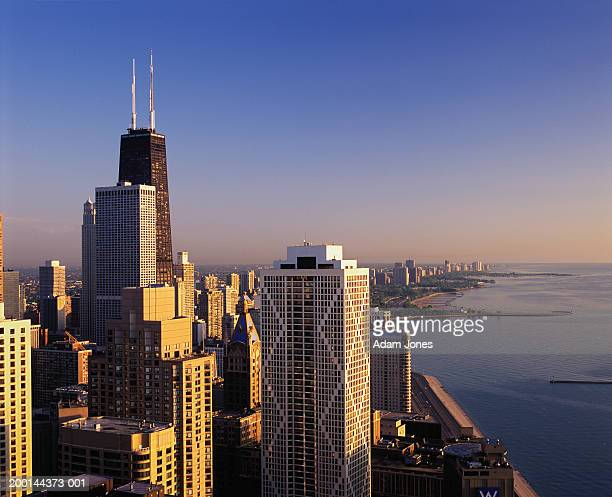 USA, Illinois, Chicago cityscape, sunrise,  Jun 2004