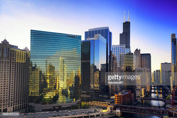 USA, Illinois, Chicago, skyscrapers, Willis Tower