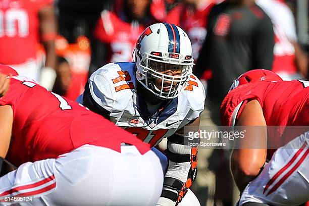 Illinois Fighting Illini defensive lineman Dawuane Smoot during the game between the Rutgers Scarlet Knights and the Illinois Fighting Illini played...