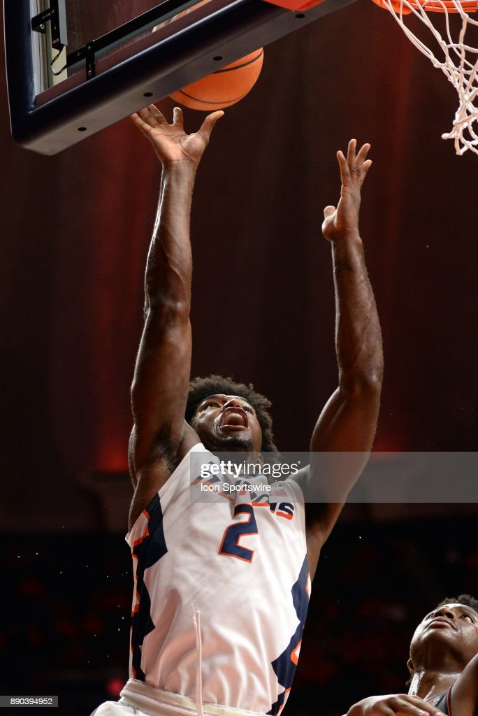 Illinois Fighting Illini forward Kipper Nichols (2) lays the ball up during the college basketball game between the Austin Peay Governors and the Illinois Fighting Illini on December 6, 2017, at the State Farm Center in Champaign, Illinois.