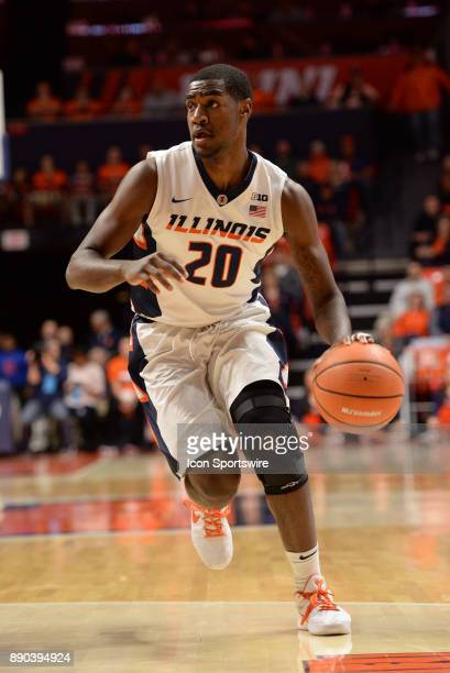 Illinois Fighting Illini guard Da'Monte Williams dribbles to the basket during the college basketball game between the Austin Peay Governors and the...