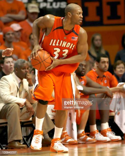 Illinois guard Rich McBride during game action at Assembly Hall Champaign Il where the Fighting Illini defeated the Wildcats of Northwestern...