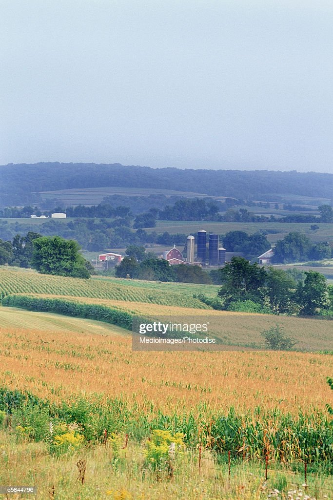 Usa illinois high angle view of a countryside stock photo Usa countryside pictures
