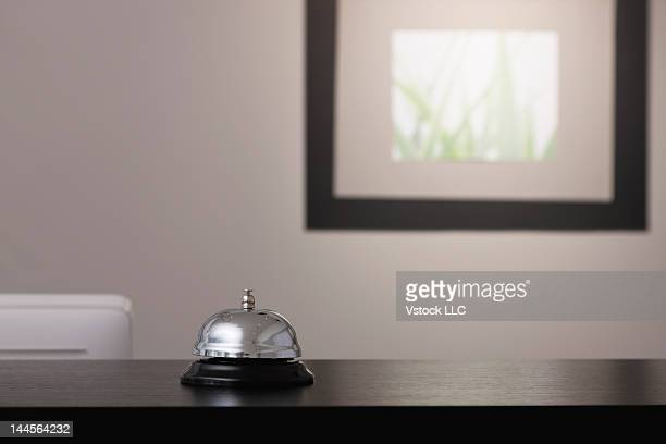 USA, Illinois, Metamora, Service bell on reception desk
