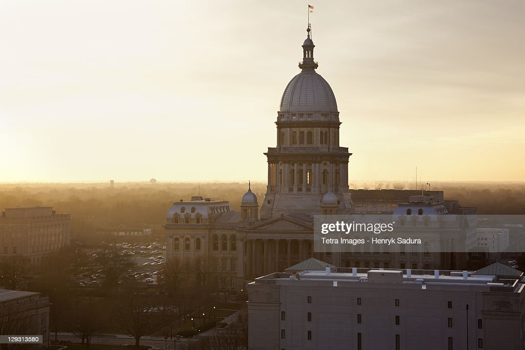 USA, Illinois, Springfield, View of State Capitol of Illinois
