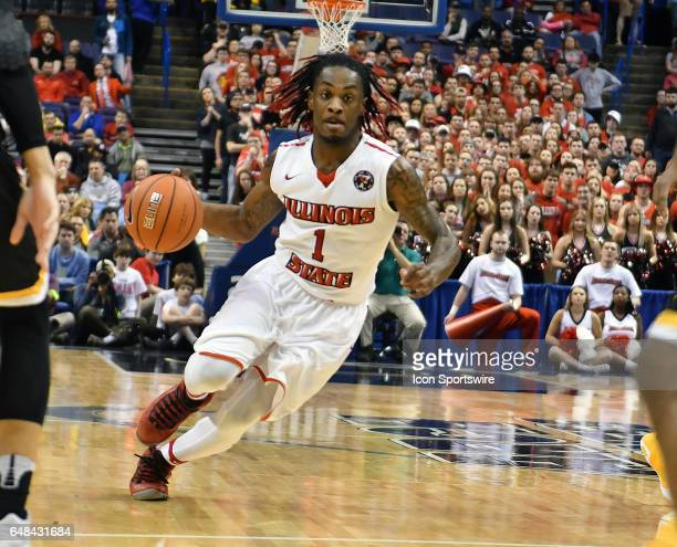 Illinois St Redbirds guard Paris Lee drives in for a shot during the championship game of the Missouri Valley Conference Men's Basketball Tournament...