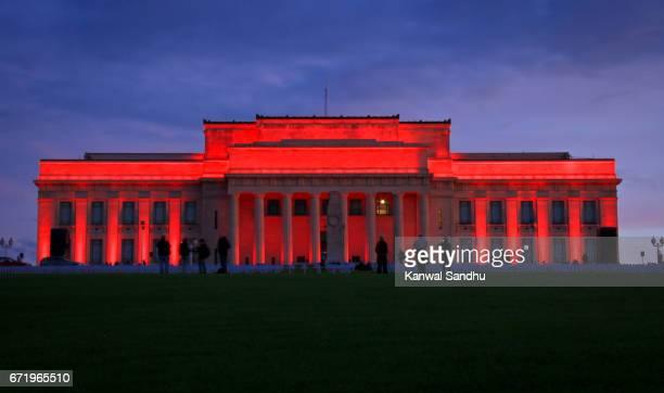 Illuminated Auckland War Memorial and Museum