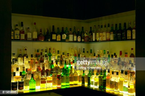 Illuminated bar : Stock Photo