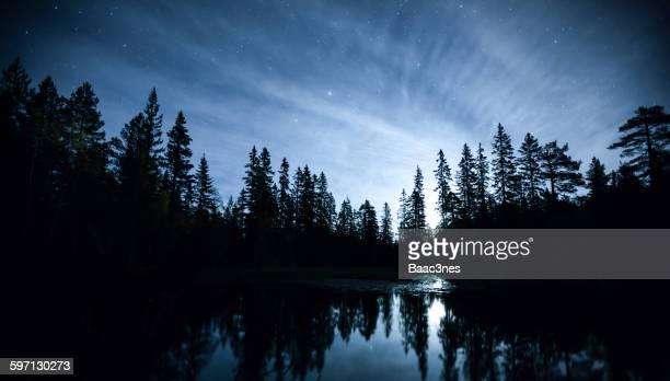 Illuminated by the moon