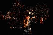 Illuminated christmas angels