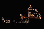 Illuminated christmas sign