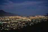 Illuminated cityscape at night, Caracas, Venezuela