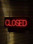 Illuminated 'closed' sign