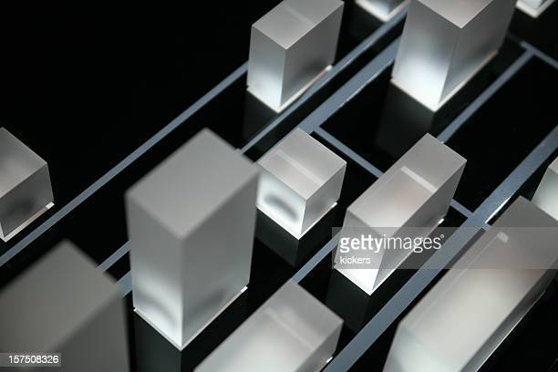 Illuminated cubes of acryl