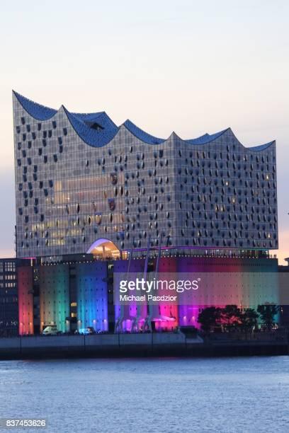 Illuminated Elbphilharmonie