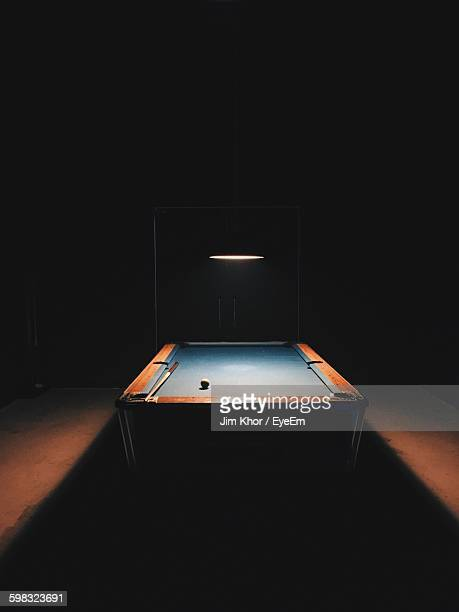 Illuminated Electric Light Above Pool Table