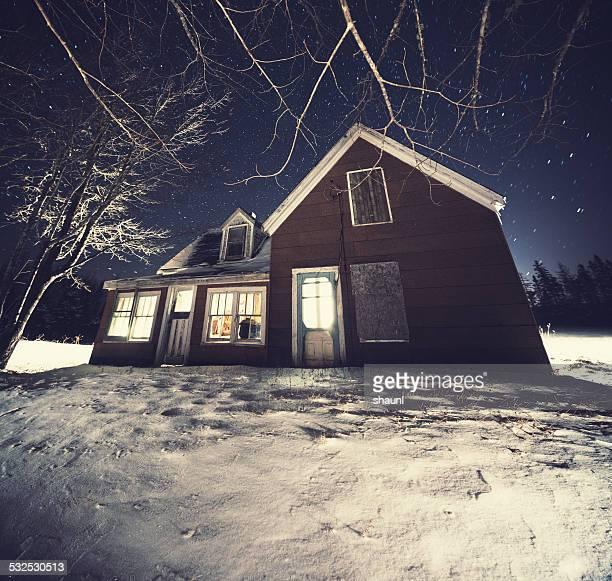 Illuminated Farmhouse