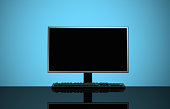 Illuminated Flat Screen with Copy Space