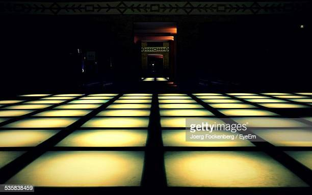 Illuminated Floor At Night Club
