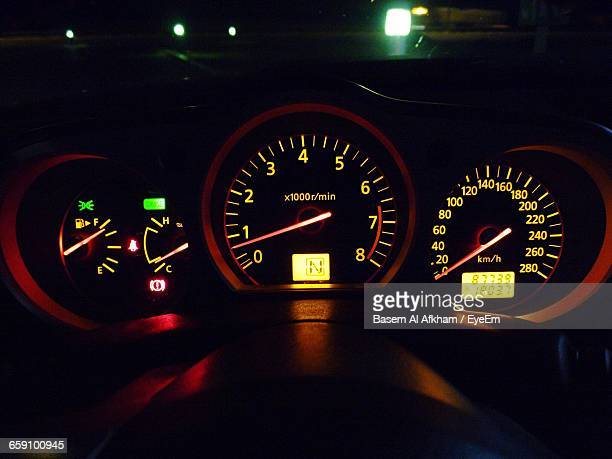 Illuminated Gauges Of Car
