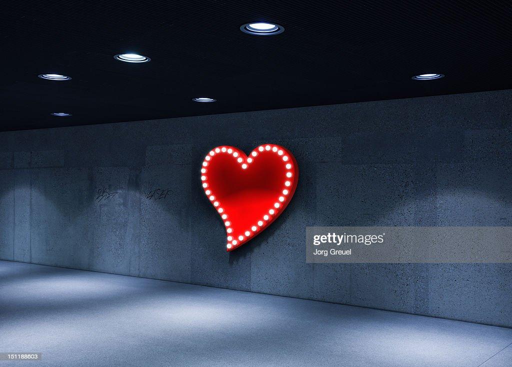 Illuminated heart : Stock Photo