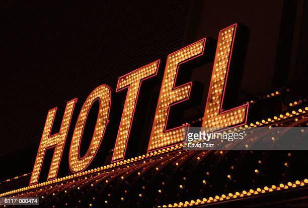 Illuminated Hotel Sign