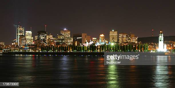 Illuminated Montreal city at night