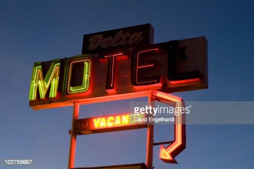 Illuminated motel sign