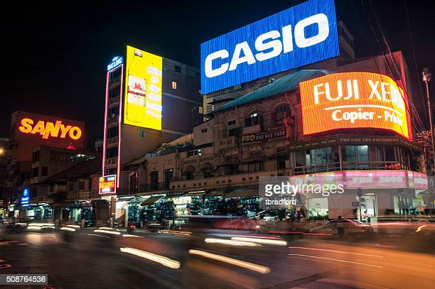 Illuminated Neon Advertising BillBoards In HCMC (Saigon) Vietnam