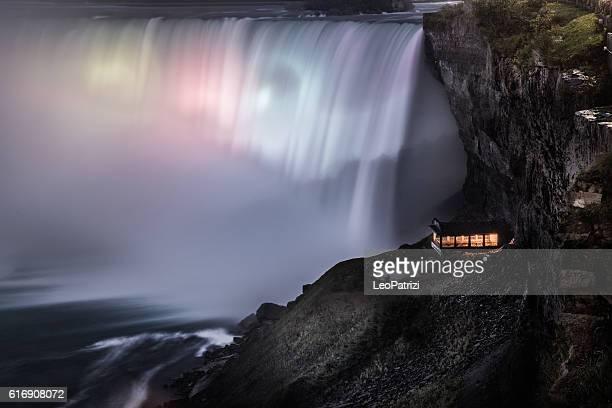 Illuminated Niagara Falls at night - Canada - North America