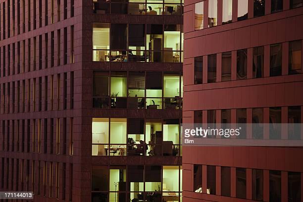 Illuminated Offices at Night