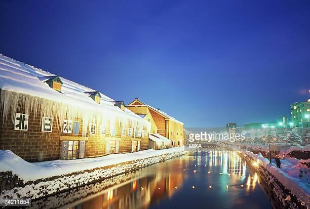 Illuminated Otaru Canal, Hokkaido, Japan