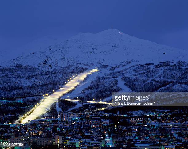Illuminated Ski Slope