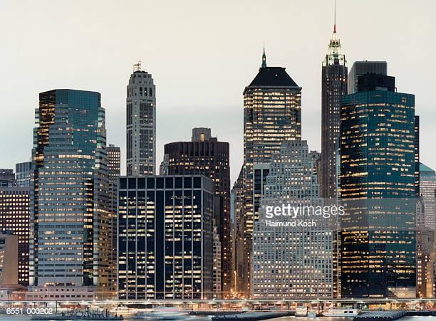Illuminated Skyscrapers