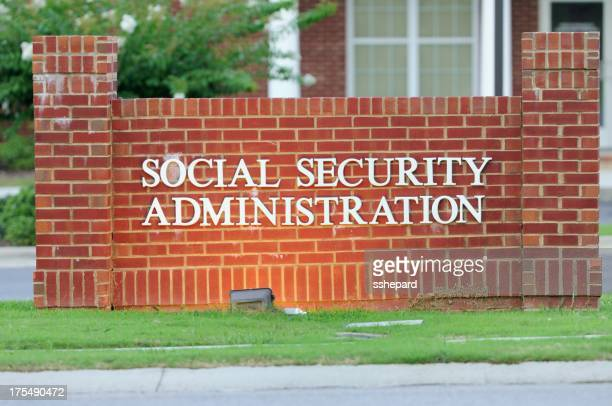 Illuminated social security administration sign