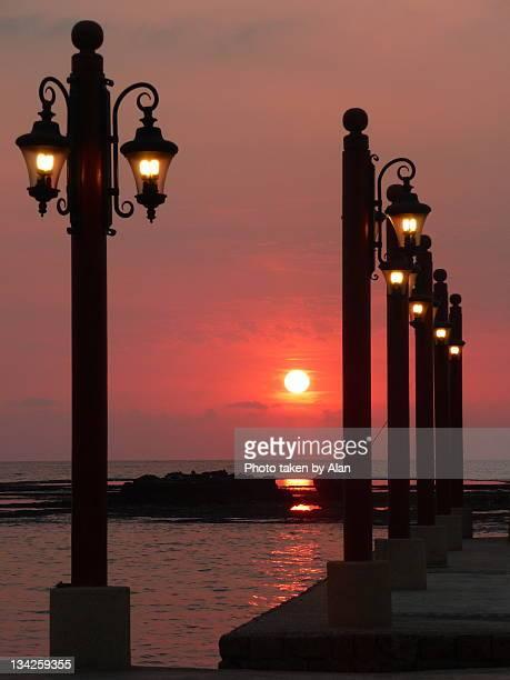 Illuminated sunset