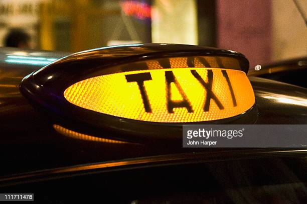 Illuminated, Taxis Sign, London