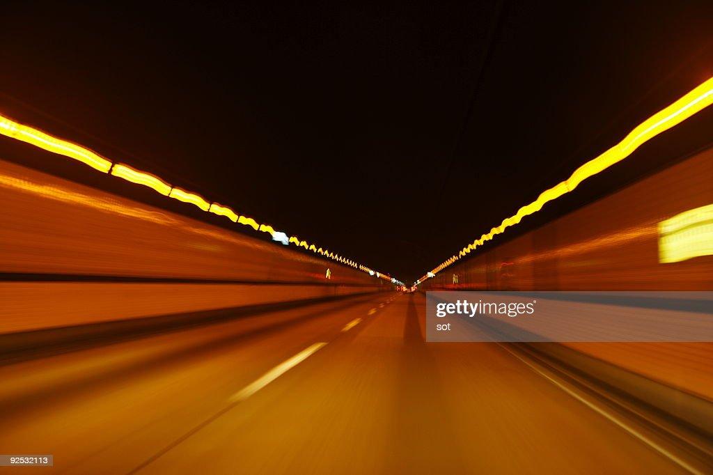 Illuminated tunnel : Stock Photo