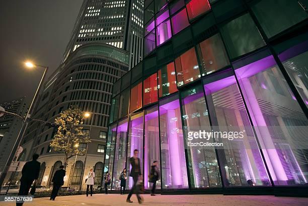 LED Illuminated Umeda business district, Osaka